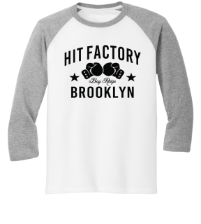 Hit Factory White and Grey with Black Lettering